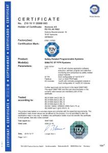 Сертификат TUV Z10 15 11 20080 003